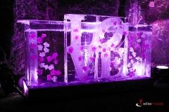 bar lodowy na wesele z napisem LOVE
