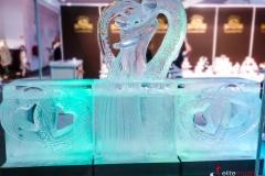 Bar lodowy z motywem młodej pary