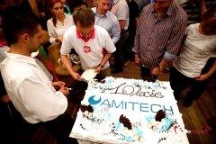 !0-lecie firmy Amitech - krojenie tortu