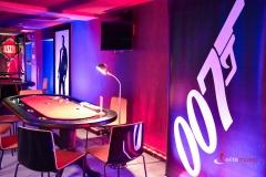 Wystrój tematyczny - wieczór James Bond Casino