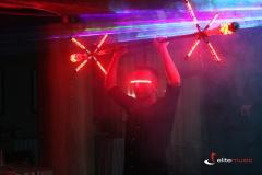 Pokaz lightshow dla firmy w hotelu Willa Port w Ostródzie