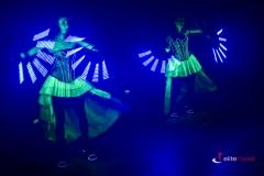 Pokaz Lightshow - część pokazu z wachlarzami ledowymi