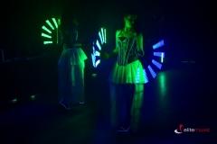 Pokaz lightshow podczas eventu firmowego w hotelu Bulwar