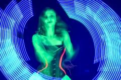 Pokaz Lightshow - manipulacje wachlarzami led