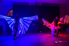 Pokaz Lightshow - skrzydła led