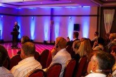 Dekorowanie światłem na organizowanej konferencji
