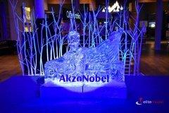 Rzeźba lodowa na imprezę firmy AkzoNobel