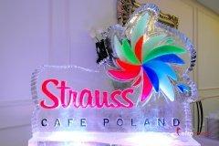 Rzeźba lodowa dla firmy Strauss