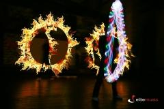 Pokaz lightshow tworzy fantastyczne wzory