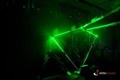 Pokaz laserowy w trakcie visualshow