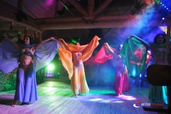 Tancerki prezentują taniec orientalny