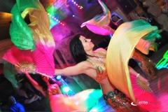 Pokaz tańca orientalnego podczas wiecozru egipskiego