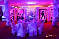 Efektowny wystrój sali na potrzeby imprezy Hollywood dla firmy E.Wedel