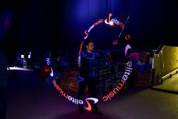 Pokaz lightshow - logoshow - pokaz na backstage