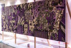 Event Painting czyli malowanie wielkoforamtowego obrazu dla firm